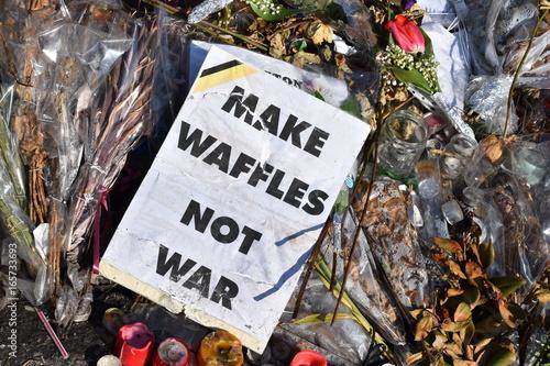 Hommage des attentats de Bruxelles - Belgique