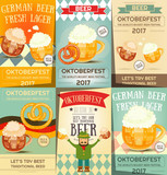 Oktoberfest Beer Festival Posters Set - 165734029
