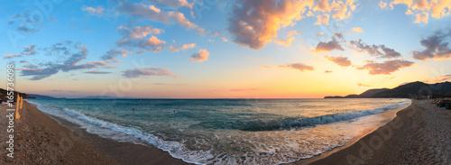 Papiers peints Morning Glory Summer sunset beach (Albania).