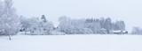 Snowy landscape countryside
