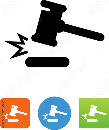 Gavel Mallet Icon - Illustration