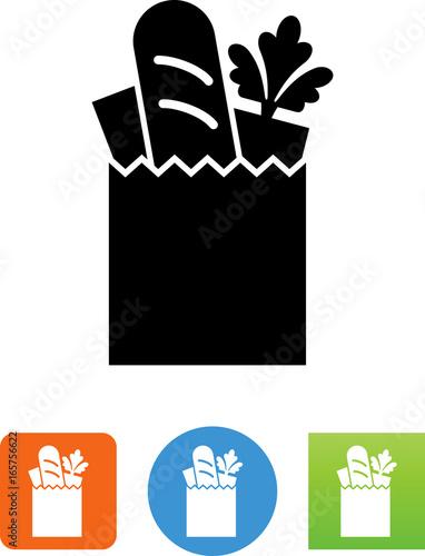 Grocery Bag Icon - Illustration
