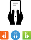 Hands Texting Icon - Illustration