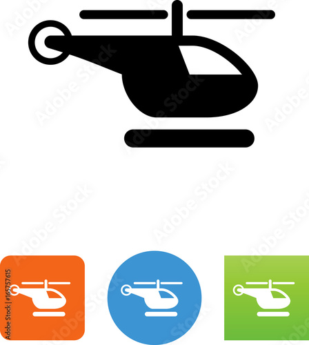 Fototapeta Helicopter Icon - Illustration
