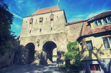 Historic tower gate in of the Fortress Sighisoara