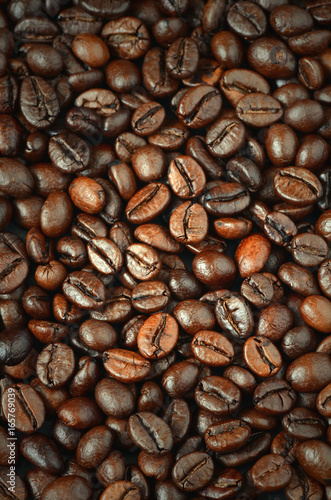 Fotobehang Koffiebonen roasted coffee beans
