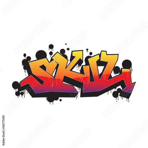 Tuinposter Graffiti Gaffiti