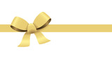 gold ribbon bow - 165786640