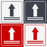 This Side Up Icon. This Way Up Sign. Packaging Symbol for Delivery of Cargo - 165792223