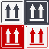 This Side Up Icon. This Way Up Sign. Packaging Symbol for Delivery of Cargo - 165792227