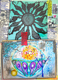 Esoteric and alchemical collage with ethnic, astrological and mysterious designs - 165795496
