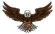 Eagle American Football Sports Mascot