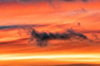 Sunset cloudy sky detail background