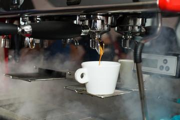barista workplace, coffee machine