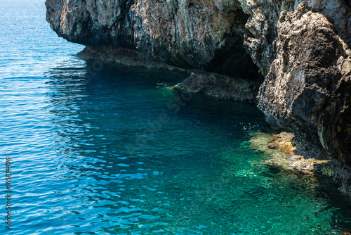 Foto op Plexiglas Cyprus Sea view from a cave
