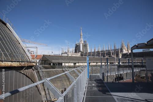 Foto op Canvas Milan Vista del Duomo di milano dall'alto della Galleria Vittorio Emanuele