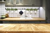 desk space in kitchen