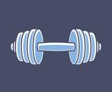 Dumbbell icon. Gym symbol .