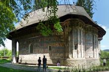 "Постер, картина, фотообои ""Voronet und Humorului Kloster in Bukovina und Rumänien"""