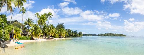 Wakacje na palmowej plaży w tropikach