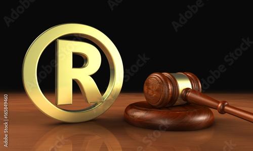 Fototapeta Registered Trademark Business Law