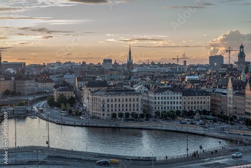 Stockholm sunset Poster