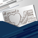 vector card with inscription all you need is love