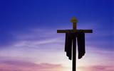Cross over beautiful sky background - 165871618