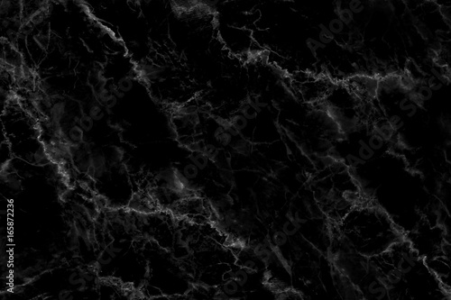 Black marble natural pattern for background, abstract natural marble black and white - 165872236