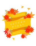 Autumn cosmos illustration