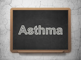 Healthcare concept: Asthma on chalkboard background