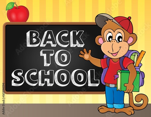 Tuinposter Voor kinderen Back to school topic 6