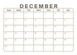 Monthly Calendar Dec...