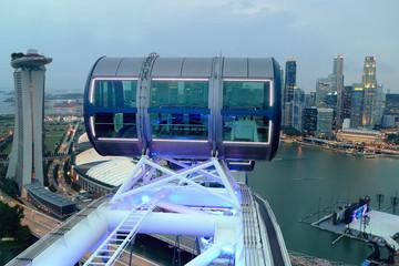 Vue aérienne depuis la grande roue, Singapour