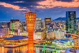 Kobe, Japan port and skyline.