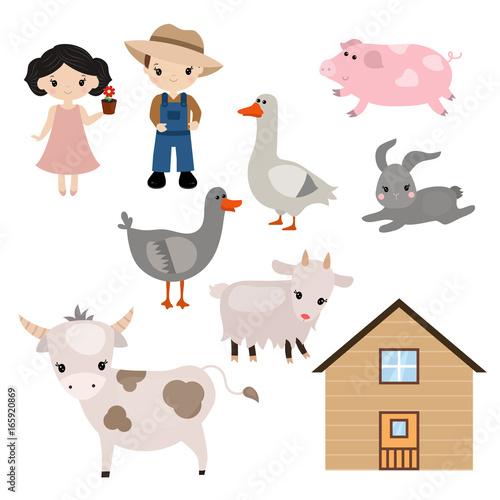 Plexiglas Zoo Set of farm animals