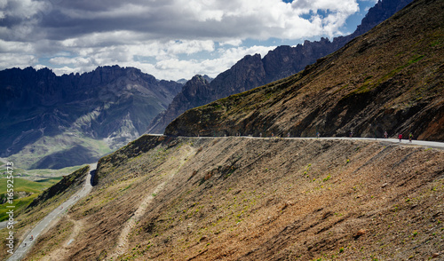 Fototapeta Serpentine mountain road. Col du Galibier, France