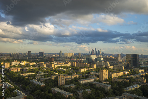 aerial view of moscow russia