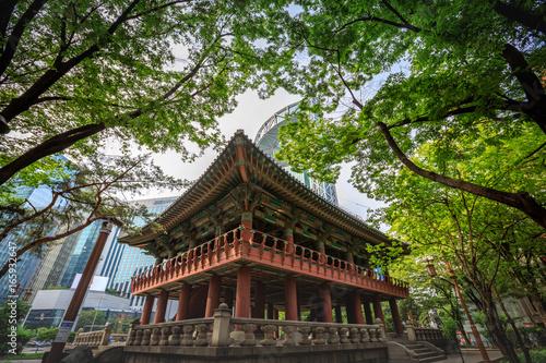 Bosingak Bell Pavilion on Jun 19, 2017 in Seoul city, South Korea