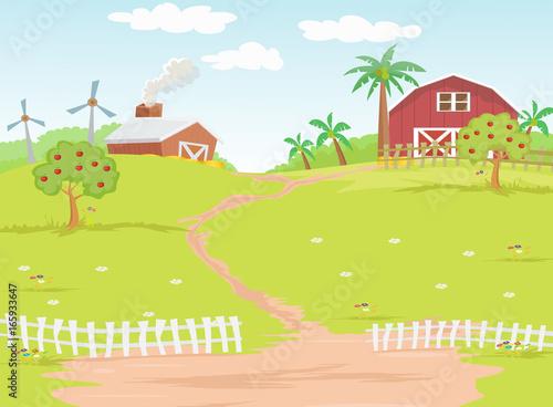 Foto op Aluminium Boerderij Background farm in the countryside