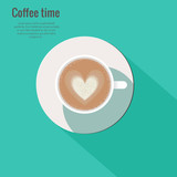 Cappuccino vector illustration.