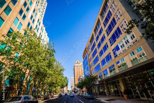 sacramento california city skyline and street views Poster