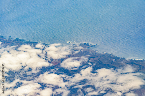 Foto op Canvas Blauw Chilean Coast Aerial View