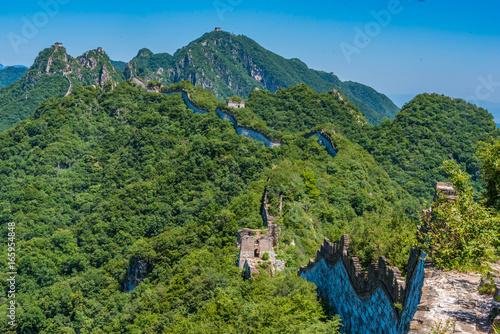 Chinesische Mauer bei Jiankou, Berge