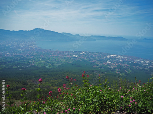 view on Naples bay from Vesuvius saddle