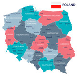 Poland - map and flag illustration - 165957804