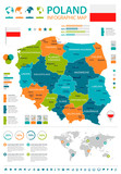 Poland - infographic map and flag - illustration - 165957840