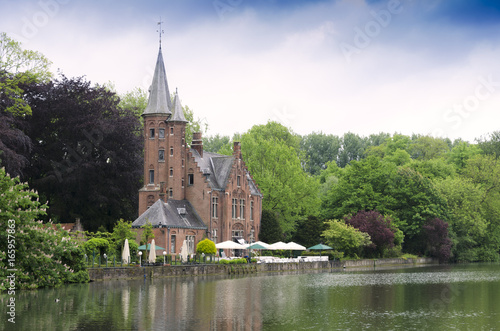 Lake minnewater on the outskirts of Bruges