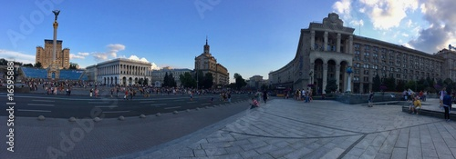 Maidan square in the center of Kiev the capital of Ukraine