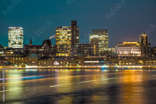 Hamburg Skyline Harbour Poster